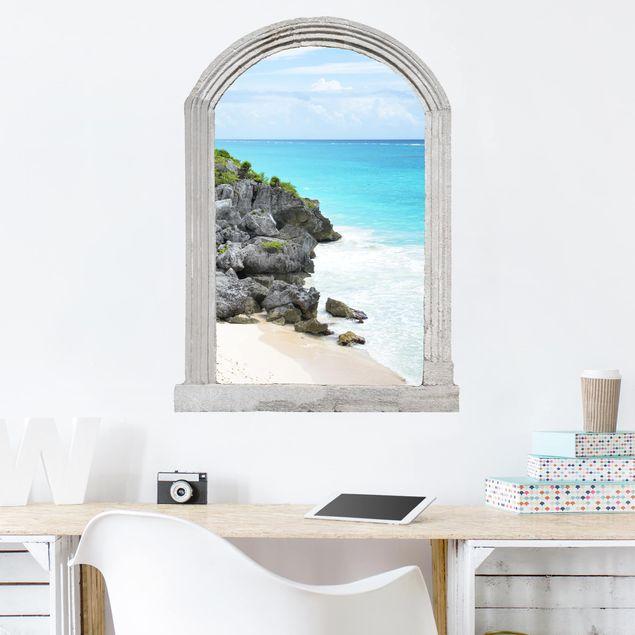Produktfoto 3D Wandtattoo - Steinbogen Karibikküste Tulum Ruinen