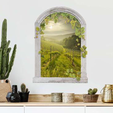Immagine del prodotto Trompe l'oeil adesivi murali - Finestra su vigneto soleggiato