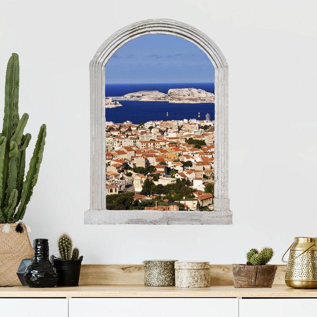 Produktfoto 3D Wandtattoo - Steinbogen Marseille
