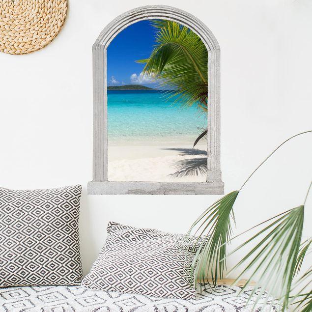 Produktfoto 3D Wandtattoo - Steinbogen Perfect Maledives