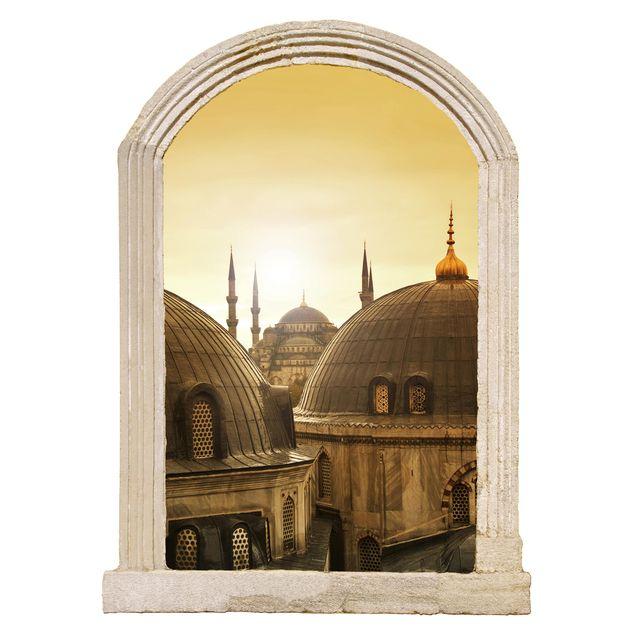 Produktfoto 3D Wandtattoo - Steinbogen Über den Dächern von Istanbul
