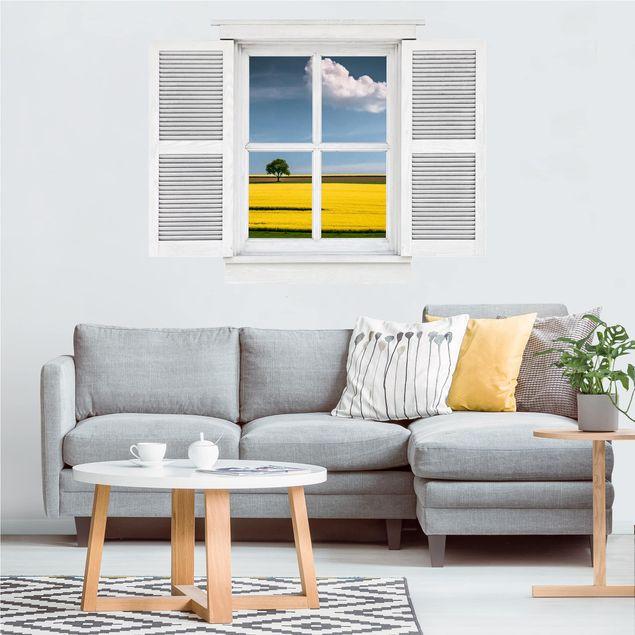 Produktfoto 3D Wandtattoo - Flügelfenster Der Baum und die Wolke