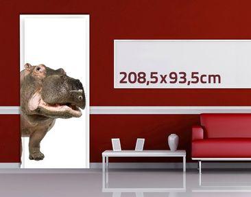 Product picture Door Wall Mural Hippo II