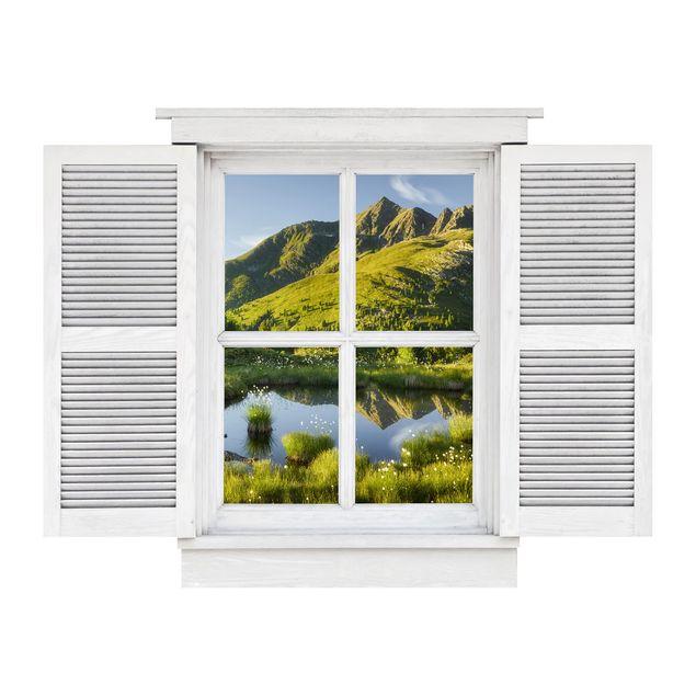 Produktfoto 3D Wandtattoo - Flügelfenster Blick vom Hirschbichl ins Defereggental
