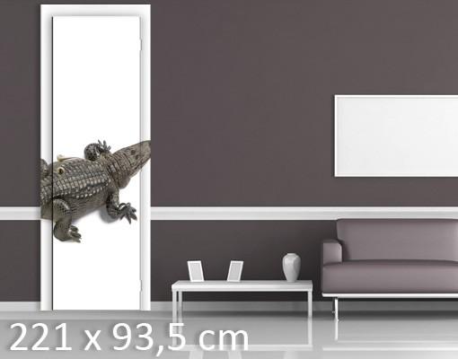 Produktfoto TürTapete Lachendes Krokodil III