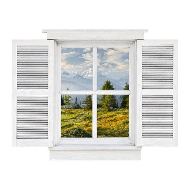 Produktfoto 3D Wandtattoo - Flügelfenster Émosson Wallis Schweiz