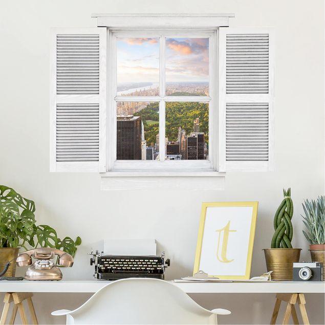 Produktfoto 3D Wandtattoo - Flügelfenster Blick über den Central Park