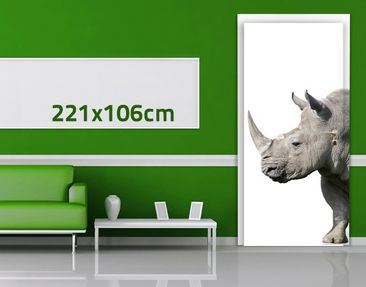 Product picture Door Wall Mural Rhino