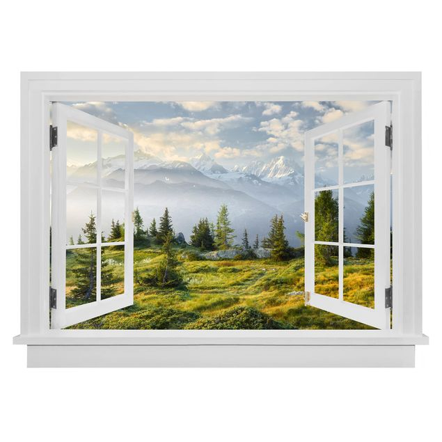 Produktfoto 3D Wandtattoo - Offenes Fenster Émosson Wallis Schweiz