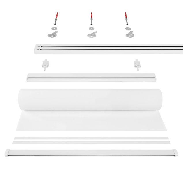 Produktfoto Schiebegardinen Set - Weiße Rosen - 2 Flächenvorhänge