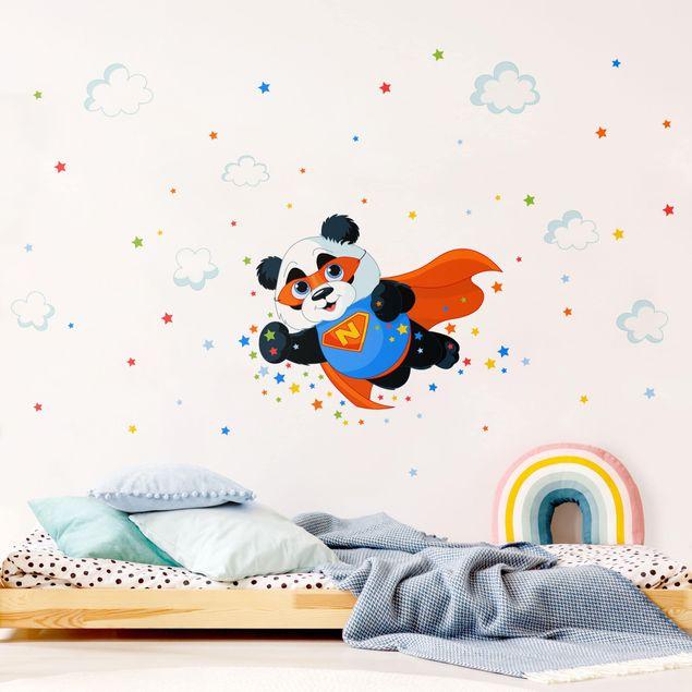 Produktfoto Wandtattoo Kinderzimmer mit Wunschtext - Super Panda
