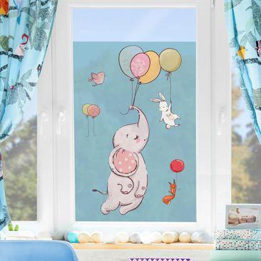 Immagine del prodotto Decorazione per finestre - Flying Elephant, Rabbit And Squirrel