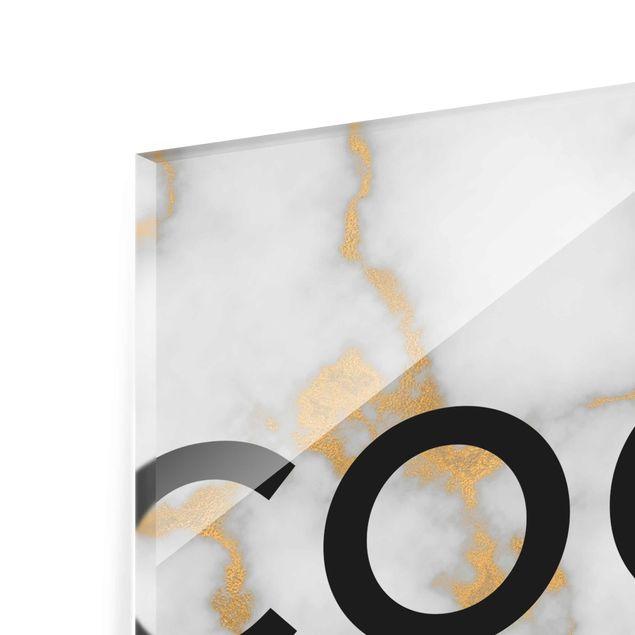 Produktfoto Glasbild - Coco - I don't do fashion - Hochformat 4:3