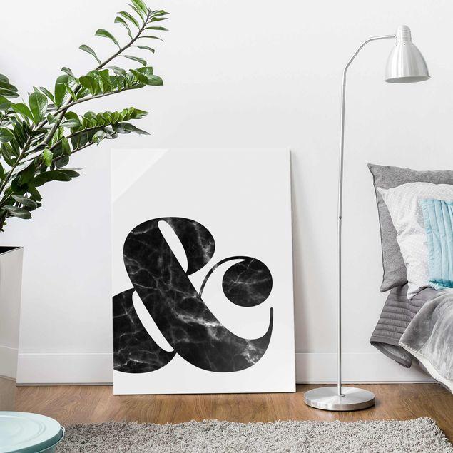 Produktfoto Glasbild - Ampersand Marmor - Hochformat 4:3
