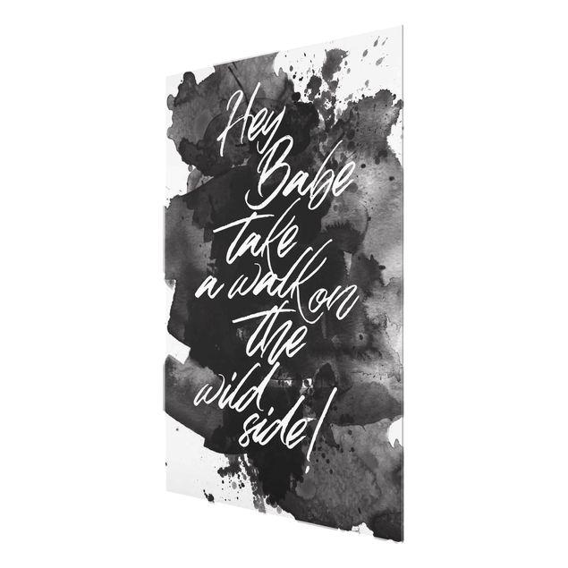 Produktfoto Glasbild - Take a walk on the wild side - Hochformat 4:3