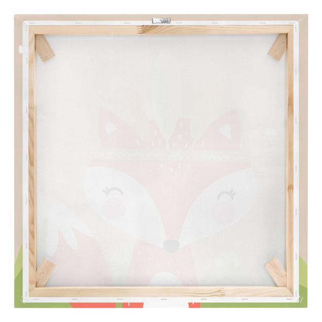 Produktfoto Leinwandbild - Indianerfuchs - Quadrat 1:1, Keilrahmen Rückseite, Artikelnummer 229466-FB