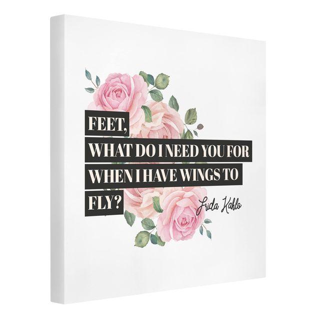 Produktfoto Leinwandbild - Feet what do i need you for - Quadrat 1:1, Spiegelkantendruck links, Artikelnummer 229467-FL