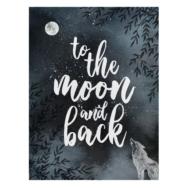 Produktfoto Leinwandbild - Love you to the moon and back - Hochformat 4:3, Frontalansicht, Artikelnummer 229474-FF