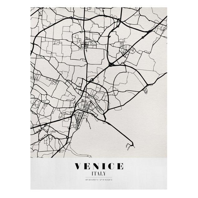 Produktfoto Leinwandbild - Stadtplan Venice - Klassik - Hochformat 4:3, Frontalansicht, Artikelnummer 229511-FF