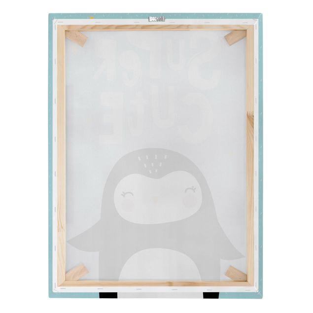 Produktfoto Leinwandbild - Super Cute Pinguin - Hochformat 4:3, Keilrahmen Rückseite, Artikelnummer 229515-FB