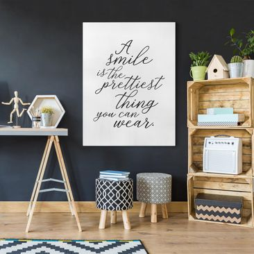 Product picture Canvas Art - A Smile Is The Prettiest...