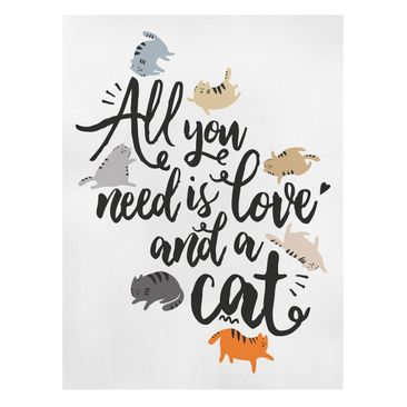 Product picture Canvas Art - All You Need Is Love And A...