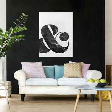 Product picture Canvas Art - Ampersand Marble - Portrait...