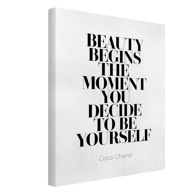 Produktfoto Leinwandbild - Be yourself Coco Chanel - Hochformat 4:3, Spiegelkantendruck links, Artikelnummer 229524-FL