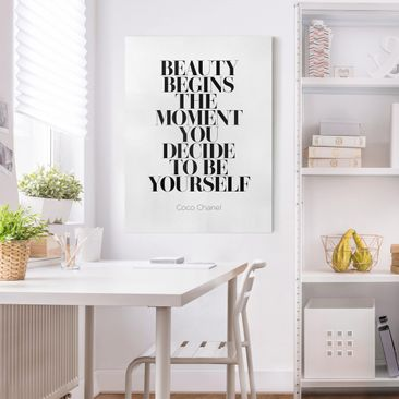 Product picture Canvas Art - Be Yourself Coco Chanel -...