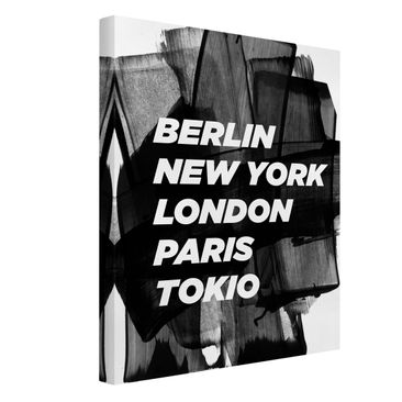 Product picture Canvas Art - Berlin New York London -...