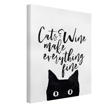 Product picture Canvas Art - Cats And Wine Make...