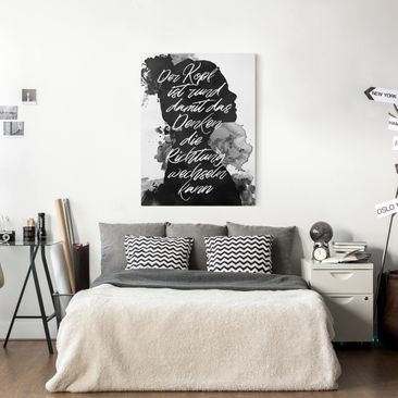 Product picture Canvas Art - The Head Is Round -...