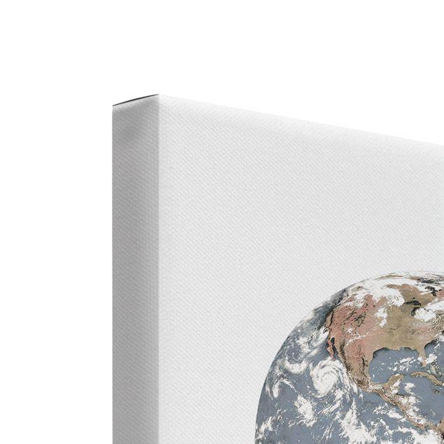 Produktfoto Leinwandbild 2-teilig - Mond und Erde - Hoch 4:3