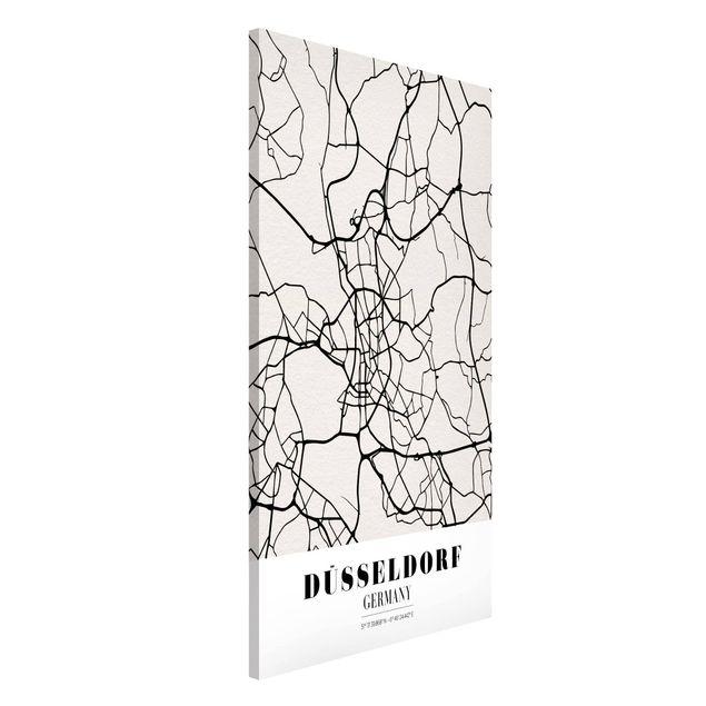 Produktfoto Magnettafel - Stadtplan Düsseldorf - Klassik - Memoboard Hochformat 4:3
