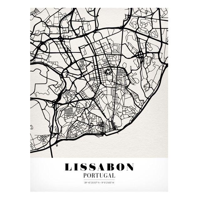 Produktfoto Magnettafel - Stadtplan Lissabon - Klassik - Memoboard Hochformat 4:3