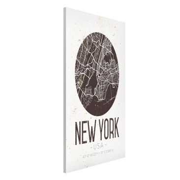 Immagine del prodotto Lavagna magnetica - New York City Map - Retro - Formato verticale 4:3