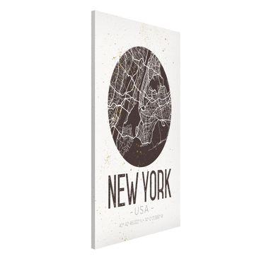 Produktfoto Magnettafel - Stadtplan New York - Retro - Memoboard Hochformat 4:3