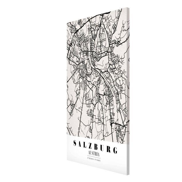 Produktfoto Magnettafel - Stadtplan Salzburg - Klassik - Memoboard Hochformat 4:3