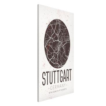 Produktfoto Magnettafel - Stadtplan Stuttgart - Retro - Memoboard Hochformat 4:3