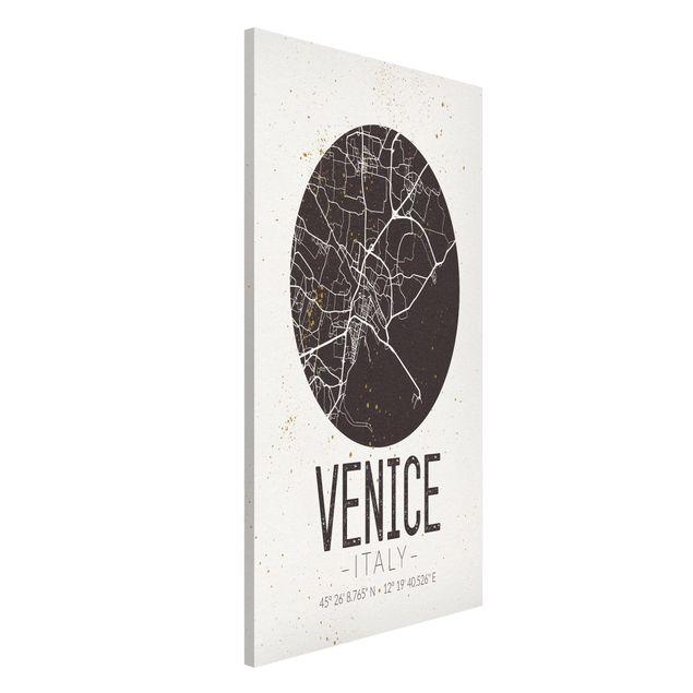 Produktfoto Magnettafel - Stadtplan Venice - Retro - Memoboard Hochformat 4:3