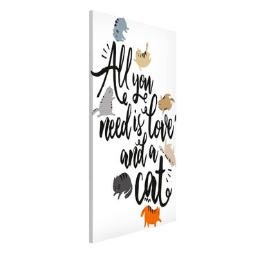 Immagine del prodotto Lavagna magnetica - All You Need Is Love And A Cat - Formato verticale 4:3