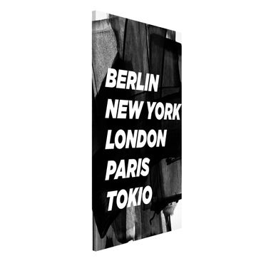 Produktfoto Magnettafel - Berlin New York London - Memoboard Hochformat 4:3