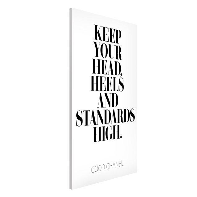 Produktfoto Magnettafel - Keep your head high - Memoboard Hochformat 4:3