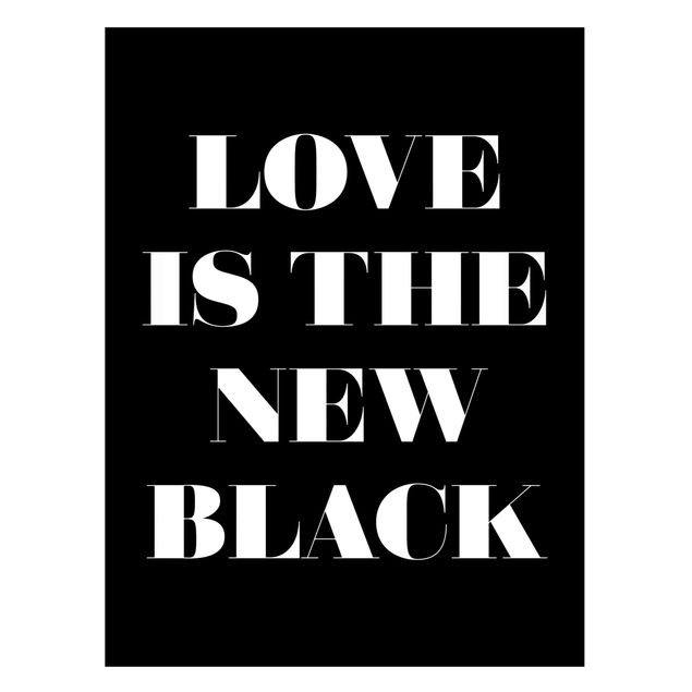 Immagine del prodotto Lavagna magnetica - Love Is The New Black - Formato verticale 4:3