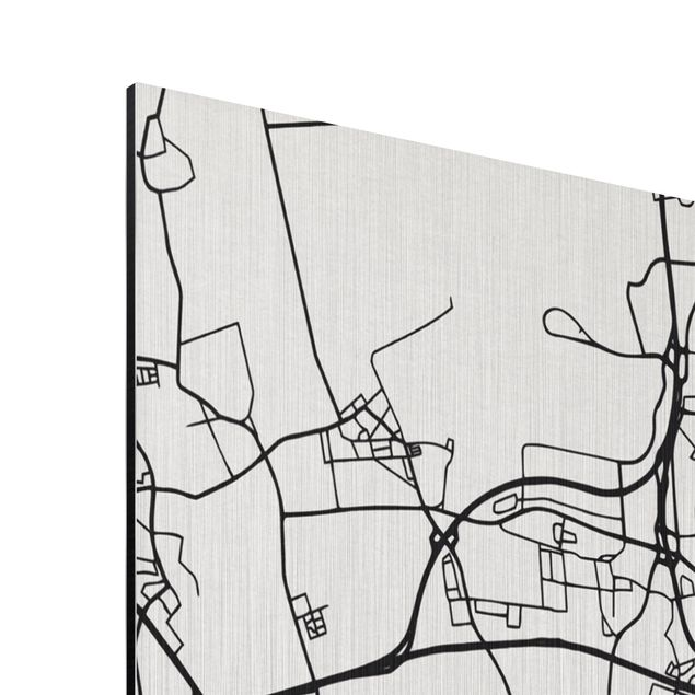 Produktfoto Aluminium Print gebürstet - Stadtplan Hannover - Klassik - Hochformat 4:3