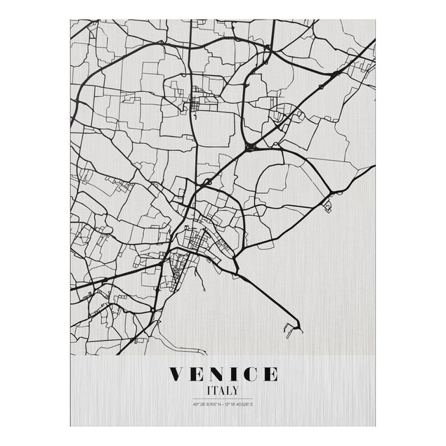 Immagine del prodotto Stampa su alluminio spazzolato - Venice City Map - Classic - Verticale 4:3