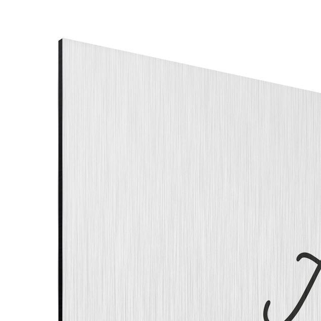 Produktfoto Aluminium Print gebürstet - A smile is the prettiest thing - Hochformat 4:3