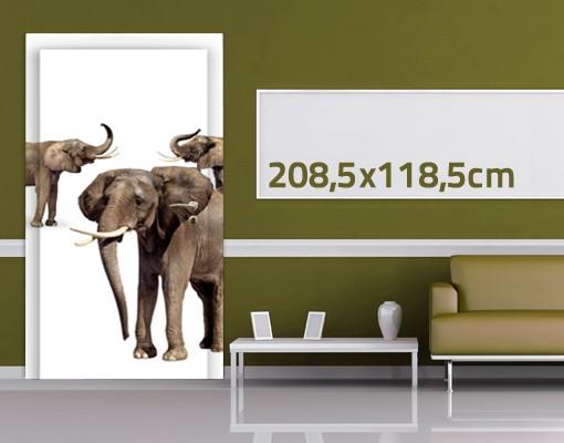 Produktfoto TürTapete Elefanten Set