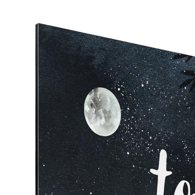 Produktfoto Aluminium Print - Love you to the moon and back - Hochformat 4:3