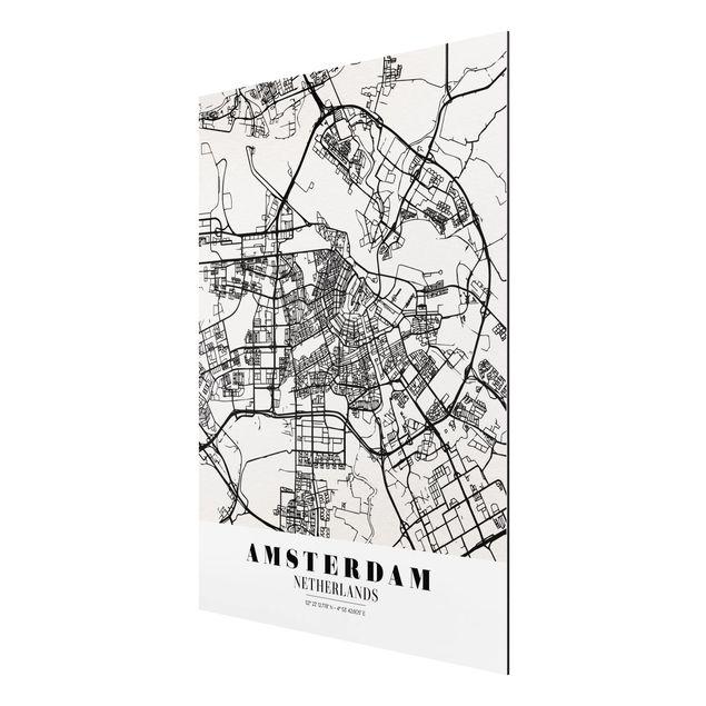 Immagine del prodotto Stampa su alluminio - Amsterdam City Map - Classic - Verticale 4:3